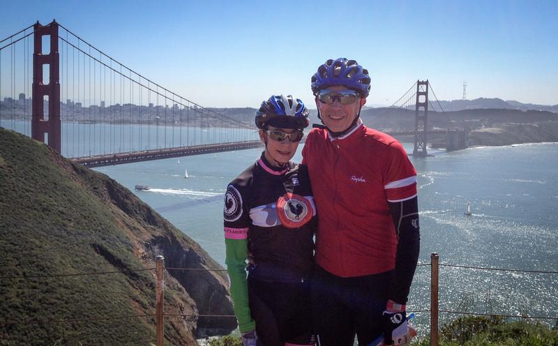 Calla & Randy at the Marin Headlands