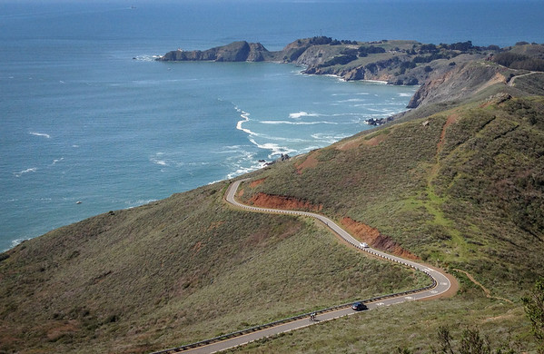 A nice slice of road down to Point Bonita light house