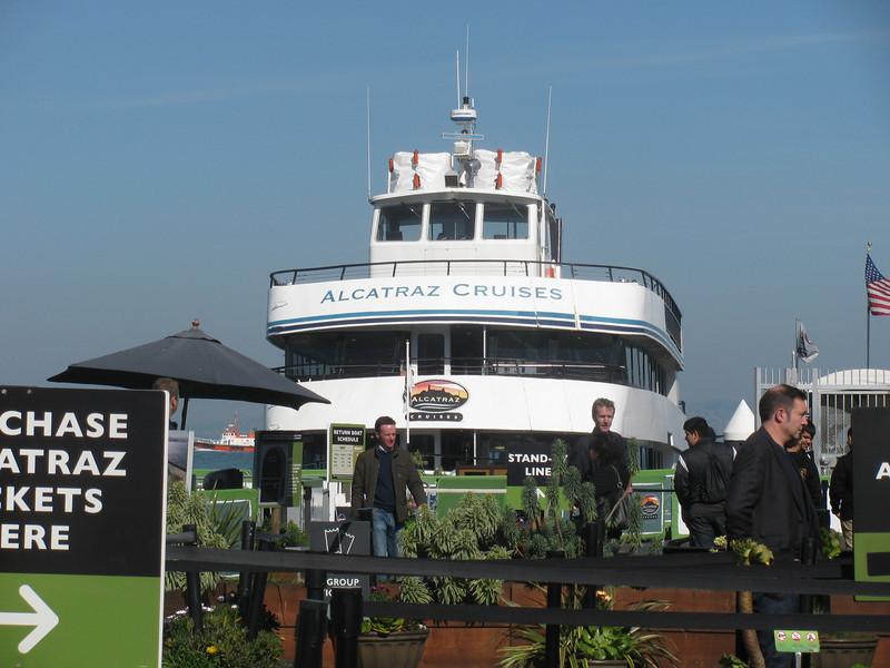 cruise ship to Alcatraz