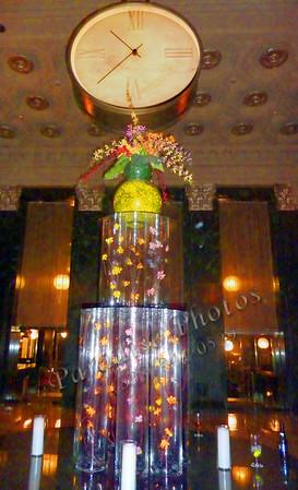 Clock in Mark Hopkins hotel lobby 676