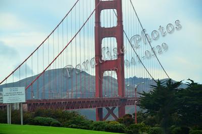 Golden Gate BVridge blue sky hill  100111 429