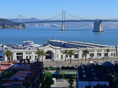 San Francisco Embarcadero at Pier 3, and Bay Bridge