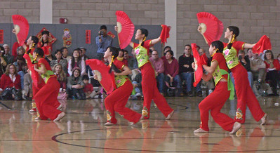 7th and 8th grade dancers at CAIS New Year pageant.