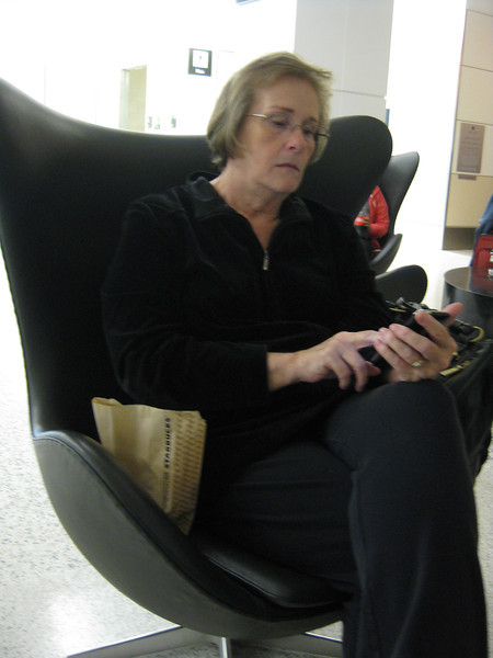 Mom at SFO, 09/21/2011