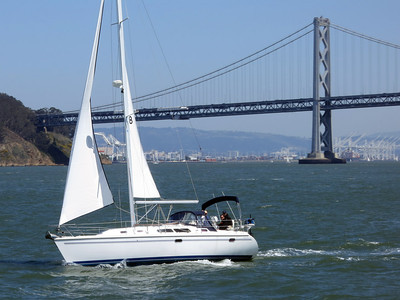 Bay Bridge sailboat