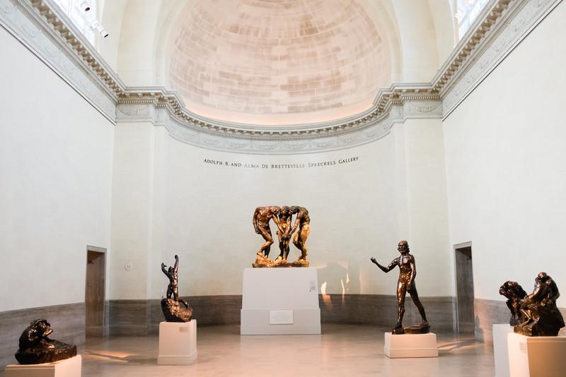 Legion of Honour Art Museum. The Rodin Room.