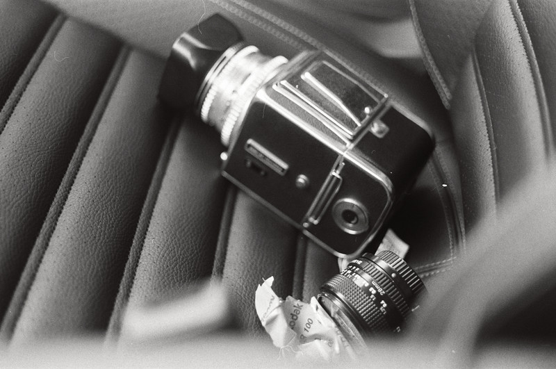 Kodak is my copilot. Davenport Bluffs. Kodak T-Max (expired 1992), Canon AE-1