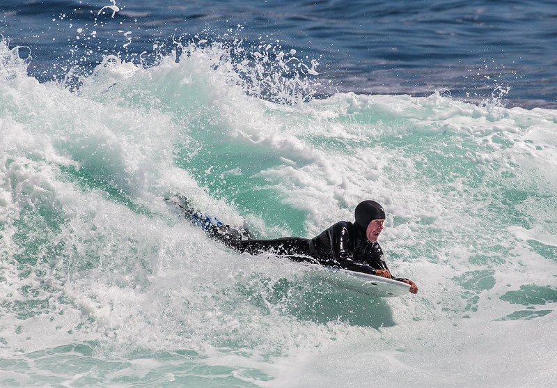 Practicing Surfing at Lovers Point, Pacific Grove