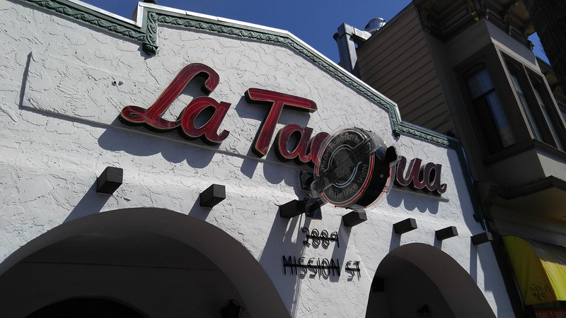 Friday - first stop, La Taqueria on Mission. A Bay Area institution, and right around the corner from Marsha's house. Good thing we stopped here Friday, too. We came back Monday (Labor Day) with Logan and Amanda, and they were closed.