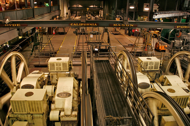 This is where the cables run for San Francisco's famous cable cars. All three lines run from this one central location.