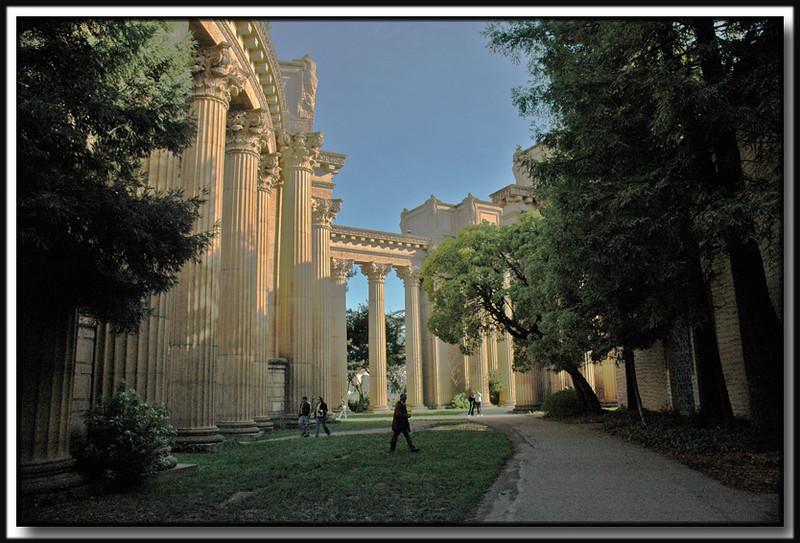 Near the Palace of Fine Arts.