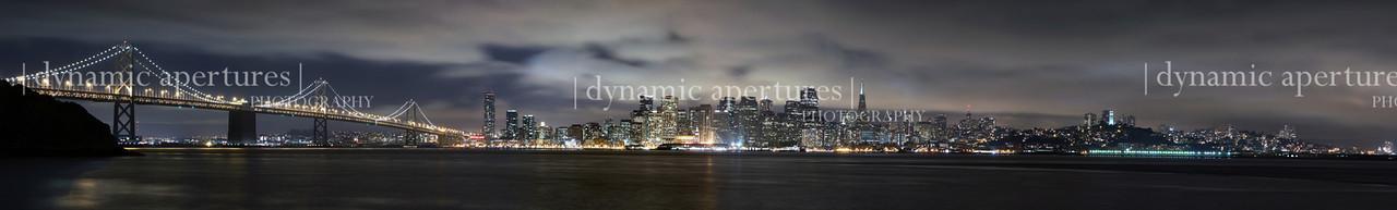 San Francisco Bay Bridge from Treasure Island Panorama