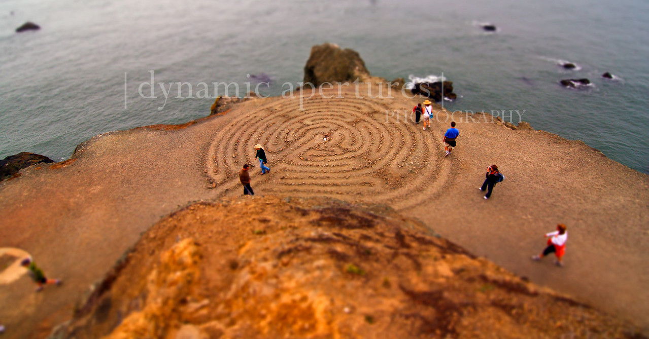 Unique perspective of the Lands End Labyrinth