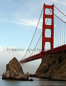 San Francisco Golden Gate Bridge in the fog