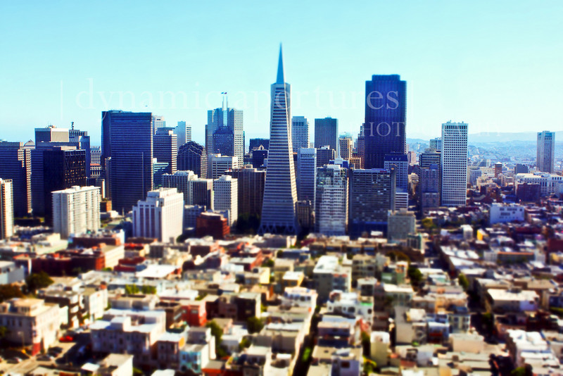 "A ""toy view"" of downtown San Francisco"