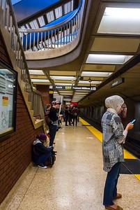 San Francisco, CA, USA, Underground, Metro, Subway Station,  People Commuting, Inside,