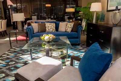San Francisco, CA, USA, Living Room Display Shop WIndow of Interior Design Store