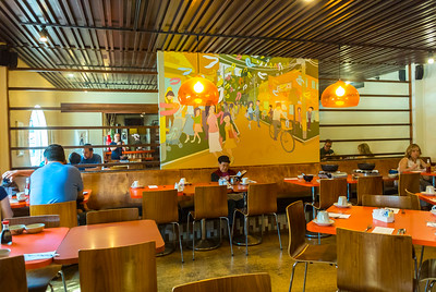 San Francisco, CA, USA, Interior, DIning Room Japanese Restaurant, Mum's, Japantown Neighborhood
