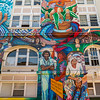San Francisco, CA, USA, Street Art, Public Mural Painting on the Women's Building, Credit Artists: Juana Alicia, Miranda,