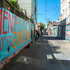 San Francisco, CA, USA, Street Art, Public Mural Painting , Balmy Alley, Mission District