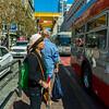 San Francisco, CA, USA, Street Scene, Urban Life, Bus Stop, Downtown