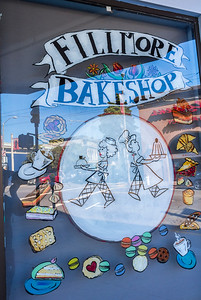 San Francisco, CA, USA, Street Scenes, Local Shops, in Fillmore District , Fillmore Bake SHop WIndow