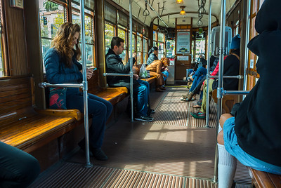 San Francisco, CA, USA, People Inside Metro Subway Train Station,