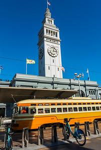 San Francisco, CA, USA, Street Car, VIntage Trolley, Street Scenes
