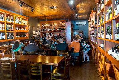 San Francisco, CA, USA, People Sharing Drinks at the Barrel Room Wine Bar, Downtown,