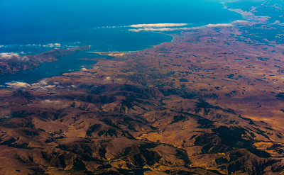 San Francisco, CA, View of Landscape from Airplane
