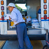 U.S. Postal Post Office Mailman Delivering Mail from Truck