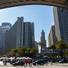 San Francisco, CA, USA, Tourists on Boat,  Fisherman's Wharf , Skyline, Downtown,