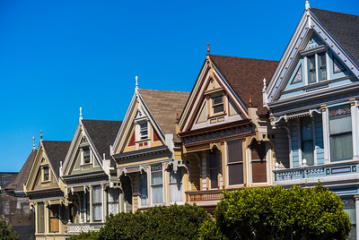 San Francisco, CA, USA, Street Scenes, Victorian Architecture, Townhouses in Mission District