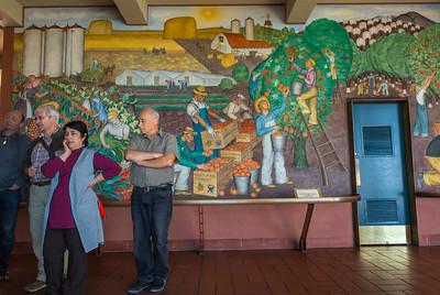 San Francisco, CA, USA,  Art, Public Mural Painting, Coit Tower, North Beach