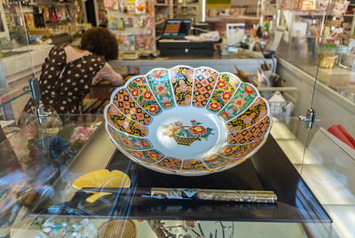 San Francisco, CA, USA, Gift Shop Window, Japanese Ceramics, Japantown Neighborhood