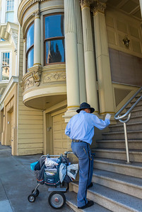 San Francisco, CA, USA, Street Scenes, Victorian Architecture, Townhouses in Fillmore District