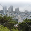 An overlook view of San Francisco, California, from the Telegraph Hill.