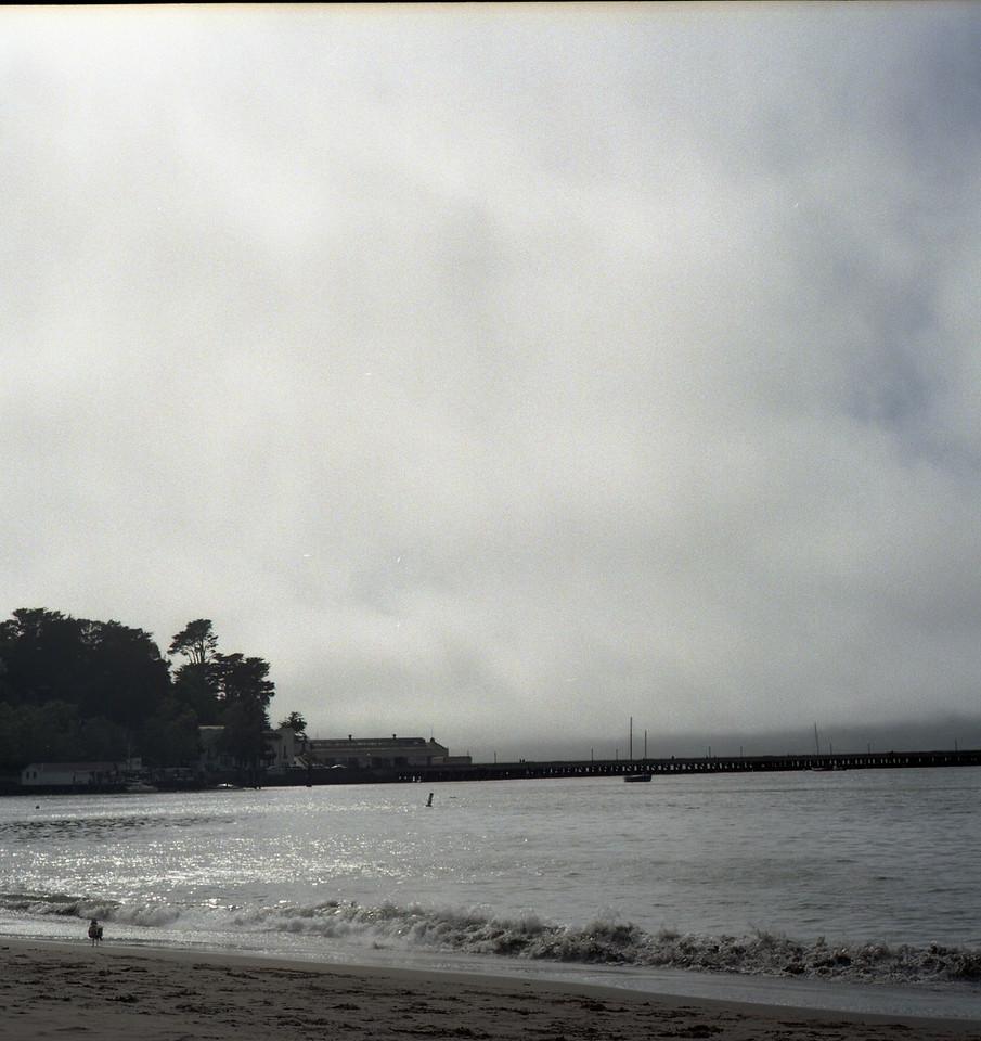 Looking toward the Golden Gate Bridge