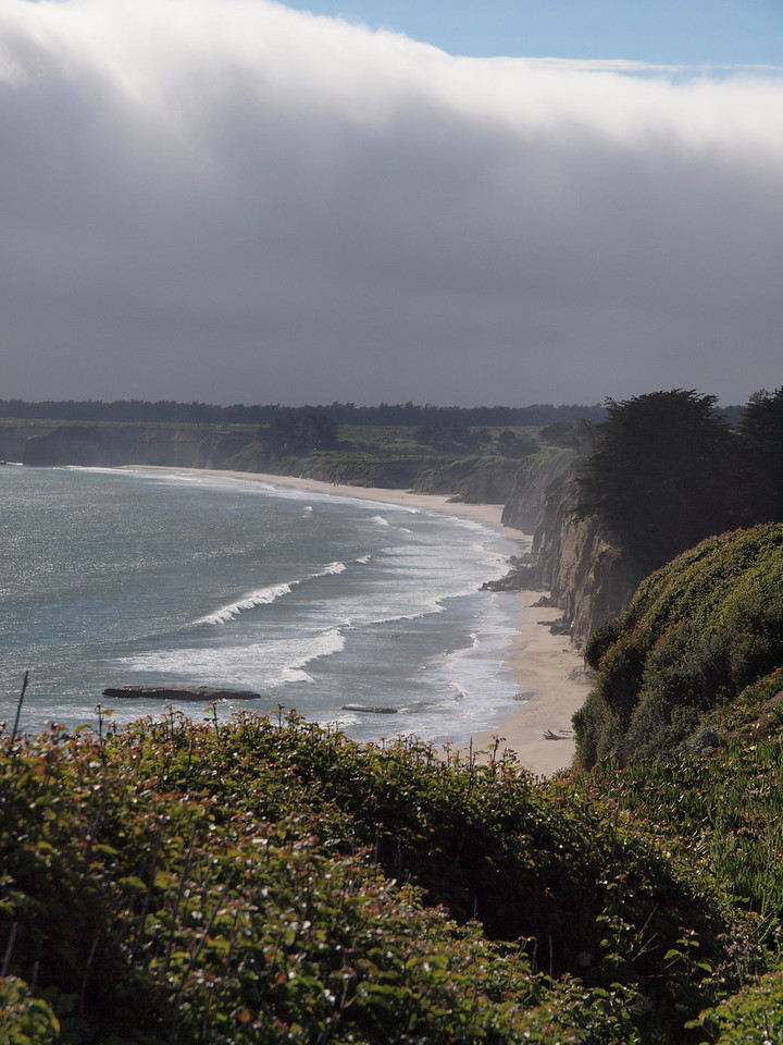 On the drive from San Francisco to Santa Cruz, staying just ahead of the fog bank.