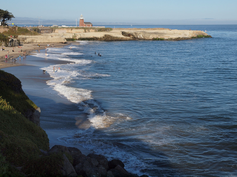 Beach at Santa Cruz, California.