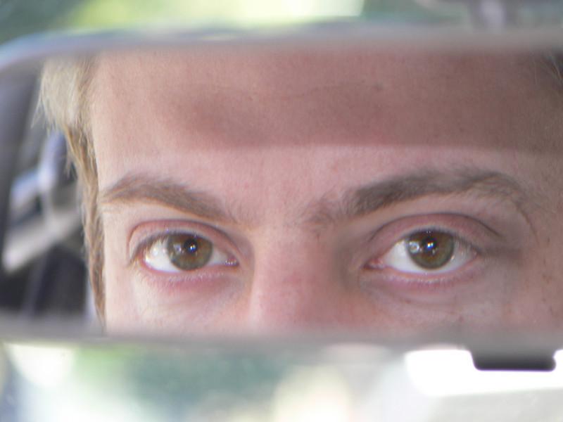 Puffy eyeballs in the mirror. :)