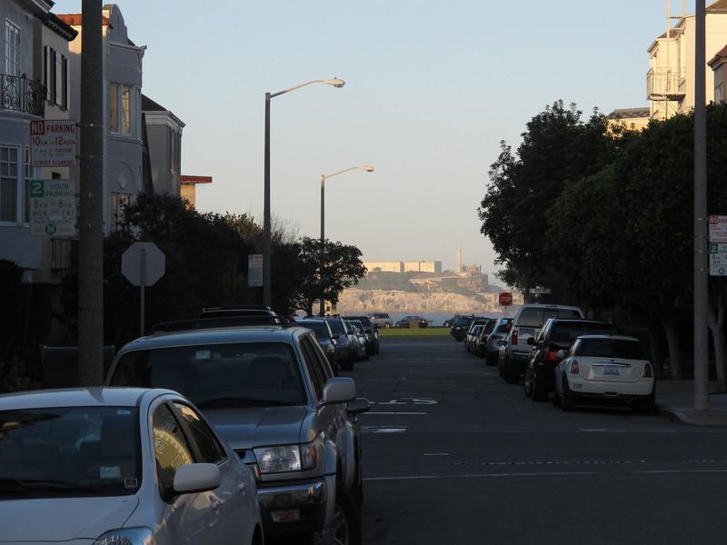 Looking down the road towards Alcatraz.