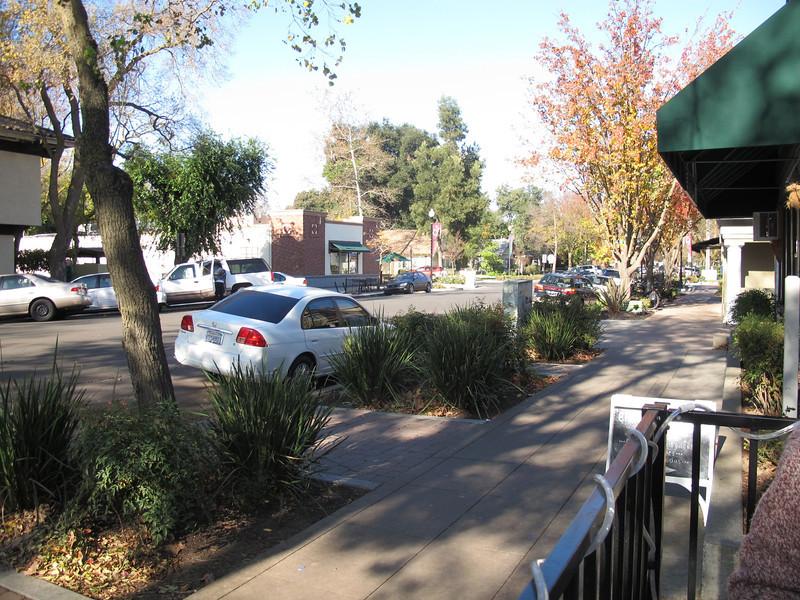 Street scene in Davis, CA.
