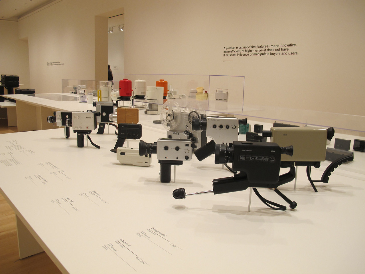 Industrial design display in SF Museum of Modern Art.
