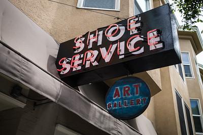 """Art gallery """"Shoe Service on Hyde."""
