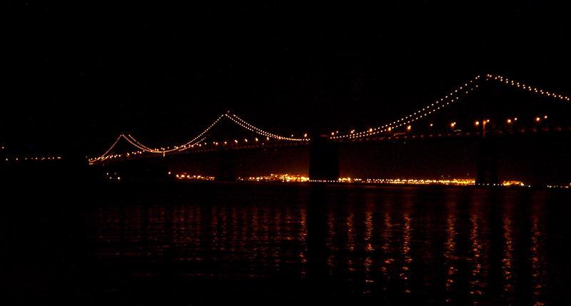 Bay Bridge, San Francisco, 9 pm