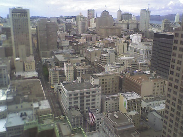 San Francisco skyline, taken with a crummy cellphone camera