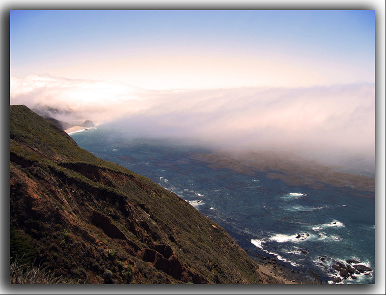 Awesome view of the Pacific near Big Sur