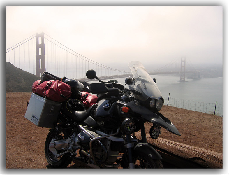 San Francisco is a great town - I can't ride within 500 miles without going to see the bridge.  It's really amazing how you get a different perspective each time you visit.  I've got a lot of great memories of visiting the city by the bay.  And lots of neat pictures from about this same spot - that show a different & unique look from each visit.