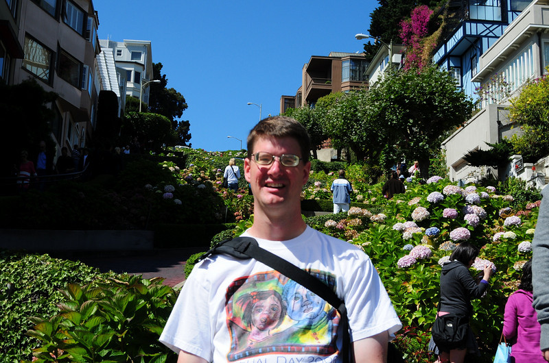 """I'm at the """"Crooked Street"""" in San Francisco."""